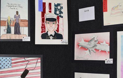 Veteran's Day art work on display