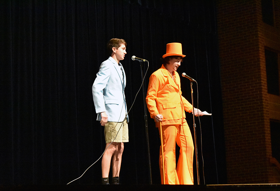 Avery Tilley and Connor Garwacki were the MC's for the performance.
