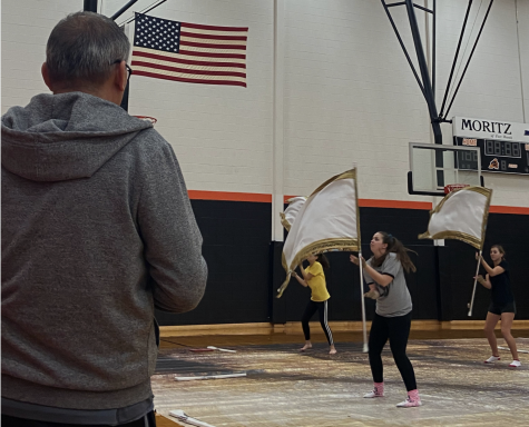Color guard prepares for competition