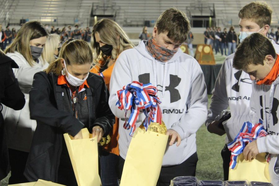 Bearcats+Receive+Medals+For+State+Win