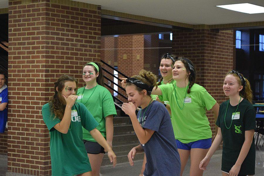 Green Team shows off their team rap