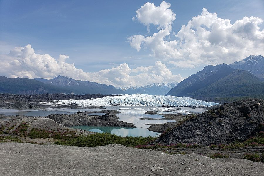 Glacier+in+Alaska+that+melts+more+than+6+inches+per+day+during+the+summer+months.+