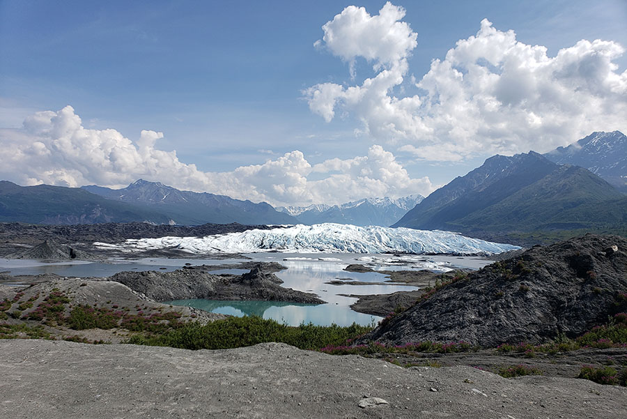 Glacier in Alaska that melts more than 6 inches per day during the summer months.